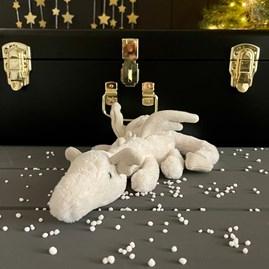 Jellycat Snow Dragon Little Soft Toy