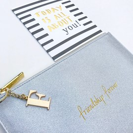 Katie Loxton Personalised 'Friendship Forever' Silver Pouch