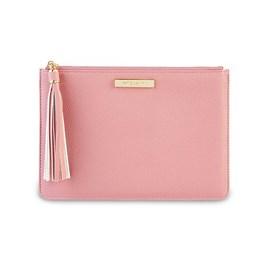 Katie Loxton Personalised Sophia Tassel Pouch In Pink