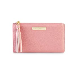 Katie Loxton Personalised Sophia Tassel Fold Out Purse In Pink