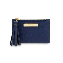 Katie Loxton Sophia Tassel Card Holder In Navy Blue