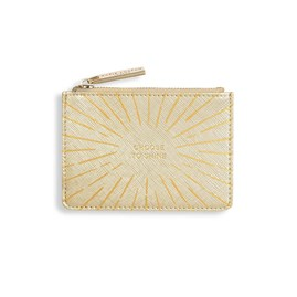 Katie Loxton Gold Print Card Holder 'Choose To Shine' In Gold