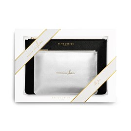 Katie Loxton Personalised 'Sparkle And Shine' Perfect Pouch Gift Set
