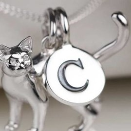 Solid Silver Letter Charms