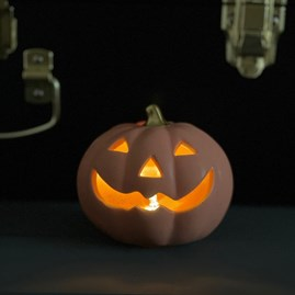 Light Up Porcelain Pumpkin