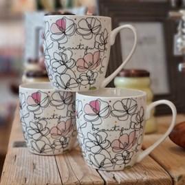 Luxury Tulip 'Beautiful' Bone China Mug