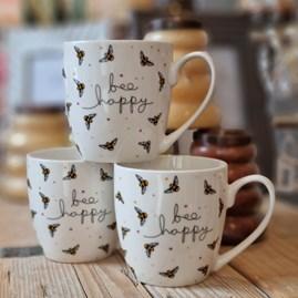 Luxury Tulip 'Bee Happy' Bone China Mug