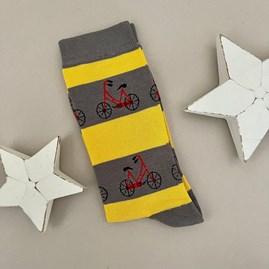 Men's Bamboo Bikes Socks in Grey