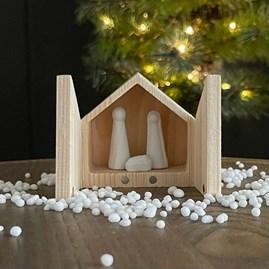 Mini Porcelain Nativity Set in Box