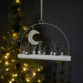 Moon Gazing Rabbits Hanging Decoration