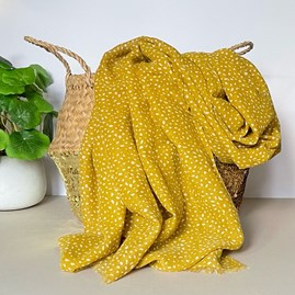 Mustard Scarf with Animal Print