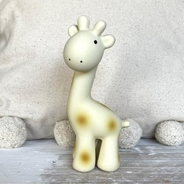 Natural Rubber Rattle & Bath Toy Giraffe