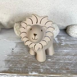 Natural Rubber Rattle & Bath Toy Lion