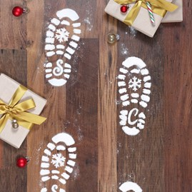 Santa's Snow Boot Footprints