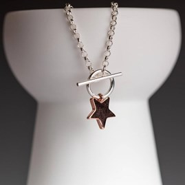 Rose Gold Star Charm Necklace
