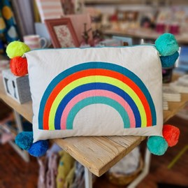 Over the Rainbow Embroidered Rectangular Cushion