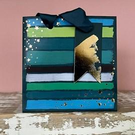 Painterly Blue Hues Small Gift Bag