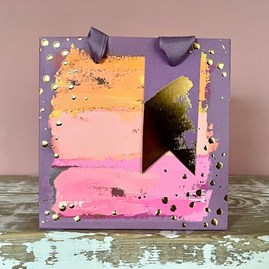 Painterly Purples Small Gift Bag