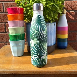 Palm Print Stainless Steel Bottle
