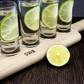 Personalised LSA Shot Glass Paddle Set