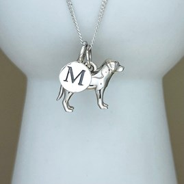 Personalised Labrador Sterling Silver Necklace