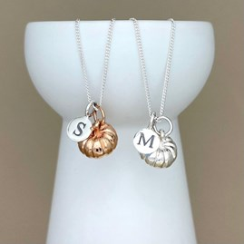Personalised Pumpkin Sterling Silver Necklace