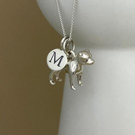 Personalised Staffordshire Bull Terrier Sterling Silver Necklace