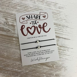 'Share The Love' Duo Star Wish Bracelets