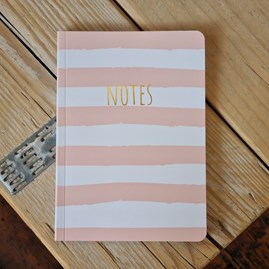 Pink Striped Notebook