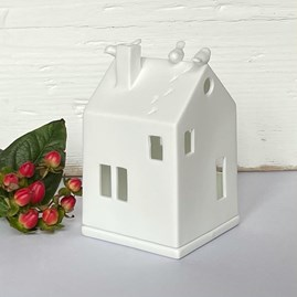 Porcelain Birdhouse Tealight Holder