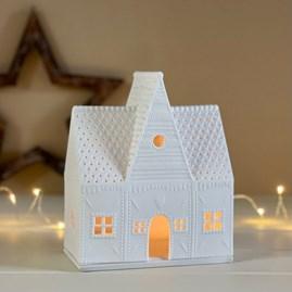 Porcelain Gingerbread House Large Tealight Holder