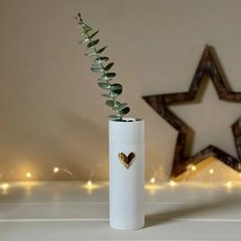 Porcelain Gold Love Heart Vase
