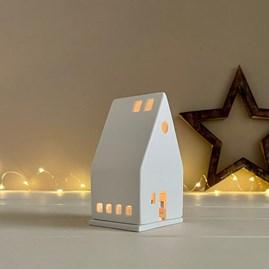 Porcelain Small House Tealight Holder