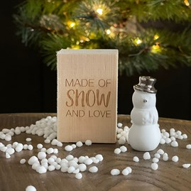 Porcelain Snowman 'Made Of Snow And Love' in Box