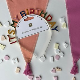 Rainbow 'It's My Birthday' Headband