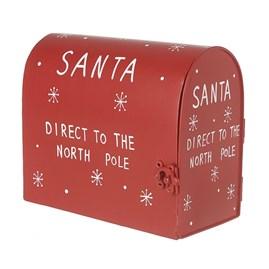 Red Metal Santa Post Box
