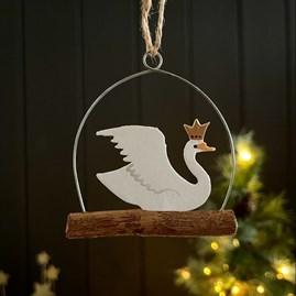 Regal Swan Hanging Decoration