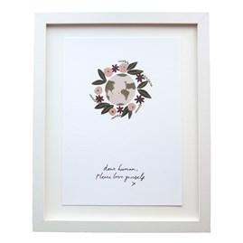 'Dear Human...' A4 Wall Print