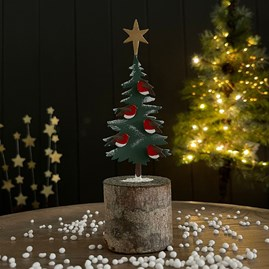 Robin Tree Christmas Decoration