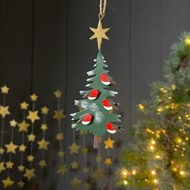 Robin Tree Hanging Decoration