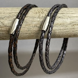 Fine Leather Double Wrap Bracelet