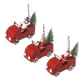 Santa, Snowman or Deer Driving Cars Decoration