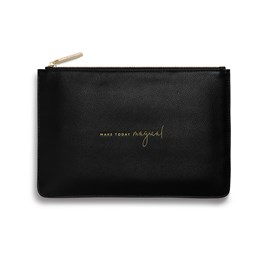 Katie Loxton Personalised 'Make Today Magical' Perfect Pouch In Black