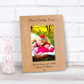 Personalised 'Best Daddy Ever' Photo Frame