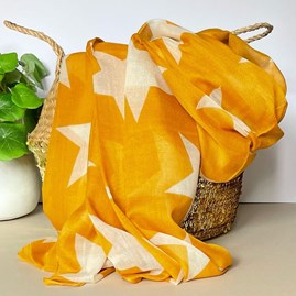 Simply Stars Scarf in Mustard
