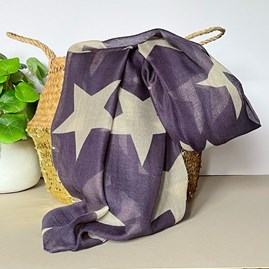 Simply Stars Scarf in Purple