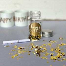 Small 'Happy Birthday' Gift Jar
