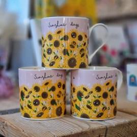 Sunflowers Bone China Mug