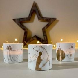 Tealight Holder 'All I Want...' Christmas Design