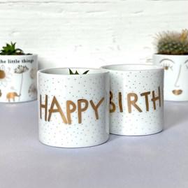 Tealight Holder 'Happy Birthday'